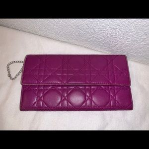 Authentic Christian Dior cannage wallet clutch